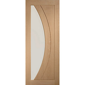 Internal Oak Pre-finished Salerno Door with Clear Glass