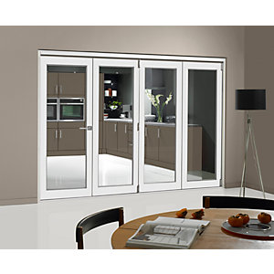 Internal Pre-finished White Door Bifold Room Divider wide