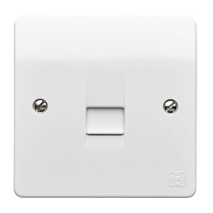 MK Master Telephone Socket Single K422WHI