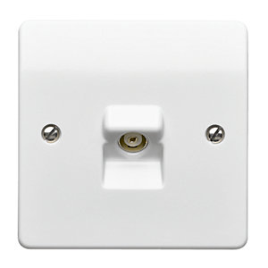 MK Single Coaxial Socket TV/FM Socket K3520WHI