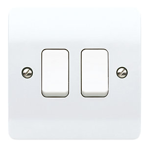 MK K4872WHI Light Switch 2 Gang 10A 2 Way