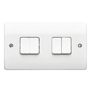 MK Light Switch 4 Gang 10A 2 Way K4874WHI