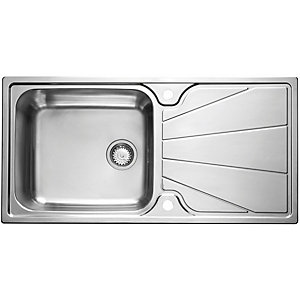Korona 1 Bowl Stainless Steel Inset Sink 1 Tap Hole