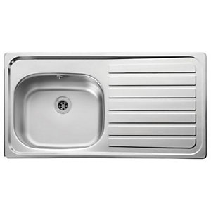 Leisure Lexin 2 Tap Hole 1.0 Bowl Right Hand Stainless Steel Inset Sink