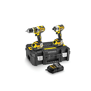 DeWalt 18V Brushless Compact Combi and Impact Driver DCK259m2T-GB