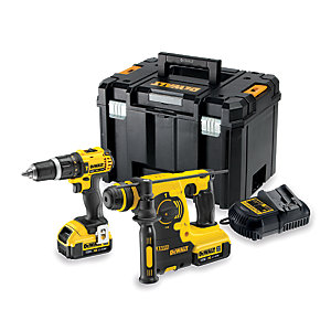 Dewalt 18V Speed Combi Drill SDS Kit DCK206m2T-GB