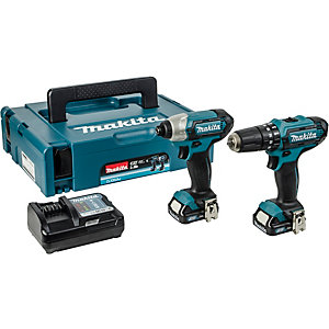 Makita LXT Combi Drill and Impact Driver 10.8V CLX228AJ - 2 Pack