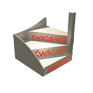 Kwikstairs Flat Pack Right Hand (As You Go Up) Winder Kit, Will Make 650, 700, 750, 800, 850 Or 900mm Wide