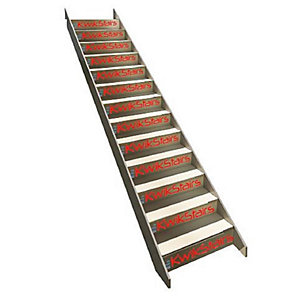 Kwikstairs Flat Pack Straight Flight Kit, Up to 900mm Wide and Up to 2860 Floor to Floor