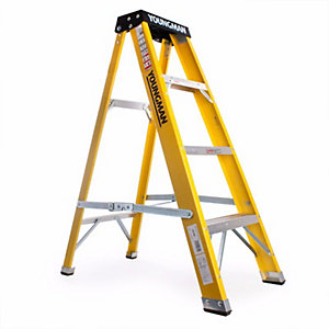 Step Ladder 4 Tread Fibre Grp