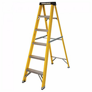 Step Ladder 6 Tread Fibre Grp
