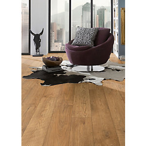 Kronospan Original Tawny Chestnut Oak Laminate Flooring - 1285mm x 192mm x 10mm