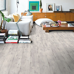 Laminate Flooring Impressive Quick Step Concrete Wood Light Grey 1380mm x 190mm x 8mm - Pack Size 1.835m²