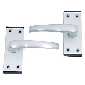 4Trade Oxford Lever Latch Satin Anodised Aluminium