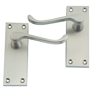 4Trade Victorian Scroll Lever Latch Satin Nickel
