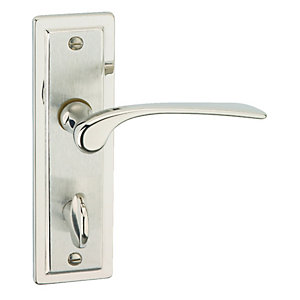 Urfic Como Lever Lock Bathroom Polished Nickel/ Satin Nickel Door Handle