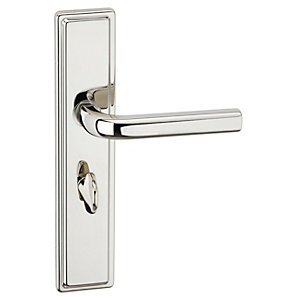Urfic Westminster Lever Lock Bathroom Polished Nickel Door Handle