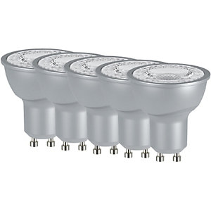 4TRADE LED GU10 5W Lamp 5 Pack - Silver