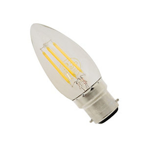 Casell LED Dimmable Filament Candle Bulb 4W BC Cap