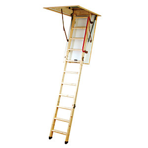 Youngman Eco S Line Wooden Folding Timber Loft Ladder 2.81m