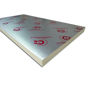 Celotex GA4100 General Application Insulation Board 100mm x 1200mm x 2400mm (2.88m²/Sheet)