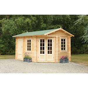 Ripon Log Cabin Natural Timber 4000mm x 2800mm