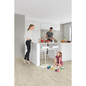 Luxury Vinyl Wood Effect Quick Step Canyon Oak Beige Flooring Pack Coverage 2.105m²