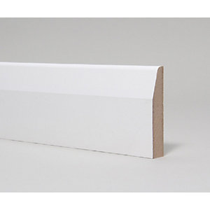 MDF Skirting Board Moulded & Primed Chamfered & Rounded  14.5mm x 94mm x 4.4m