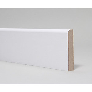 MDF Skirting Board Moulded & Primed Pencil Round  14.5mm x 94mm x 4.4m