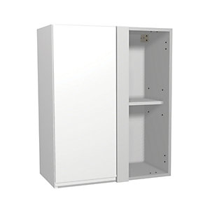 Madison White Gloss 600mm Corner Wall Unit