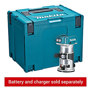Makita 18V Router with Trimmer Base and Straight Guide DRT50ZJ