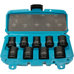 Makita 9 Piece Impact Socket Set P-46953