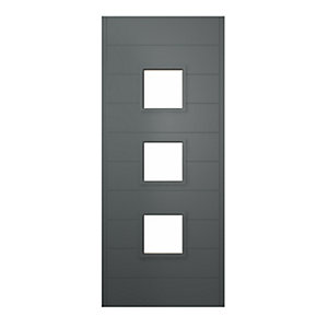 Malmo Ultimate External Front Grey Hardwood Veneer Door
