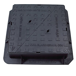 Clark Drain Manhole Cover and Frame Double TRI Ductile Iron 600mm x 600mm