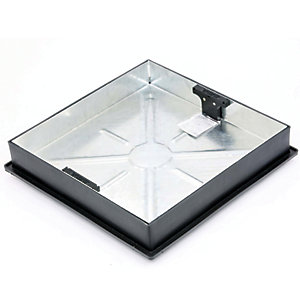 Clark Drain Recessed Square To Round Pavior Manhole Cover and Frame 450mm Diameter