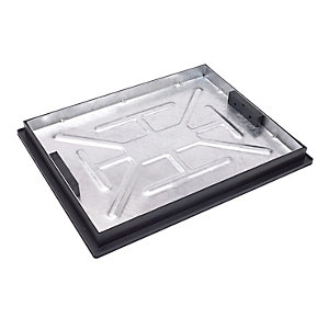 Clark Manhole Cover and Frame 600mm x 450mm x 5T Galvanised Steel Recessed Tray CLKS 790R/46