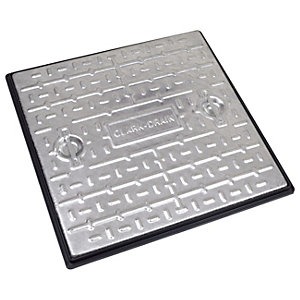 Clark Manhole Cover and Frame 600mm x 600mm x 10T Galvanised Steel PC7CG