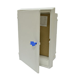 Mitra Flush Electric Meter Box White Box and Door