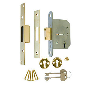 4Trade 5 Lever Deadlock Brass 64mm