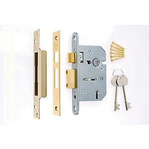 4Trade 5 Lever Sashlock Brass 64mm