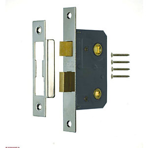 5 x 4Trade Bathroom Lock Chrome 64mm