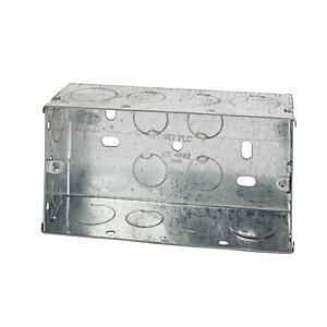4TRADE Metal Box 2 Gang 25mm (Pack of 5)
