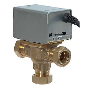 Honeywell 3 Port Mid Position Valve 28mm