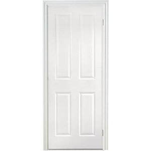 Moulded 4 Panel Grained Hollow Core Internal Door Height 2040mm