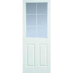 Moulded 6 Panel Grained Hollow Core Internal Door Height 1981mm