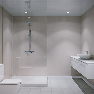 Multipanel Hydrolock Shower Panel Beige Eiger 2400mm