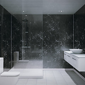 Multipanel Hydrolock Shower Panel Midnight Stone 2400mm