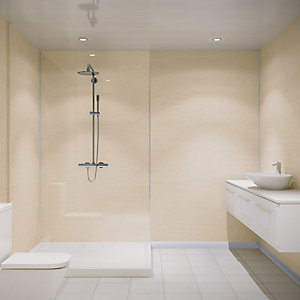 Multipanel Hydrolock Shower Panel Sahara 2400mm