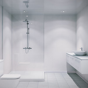 Multipanel Hydrolock Shower Panel White Linen 2400mm