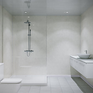 Multipanel Unlipped Shower Panel Limestone 7182 2400mm